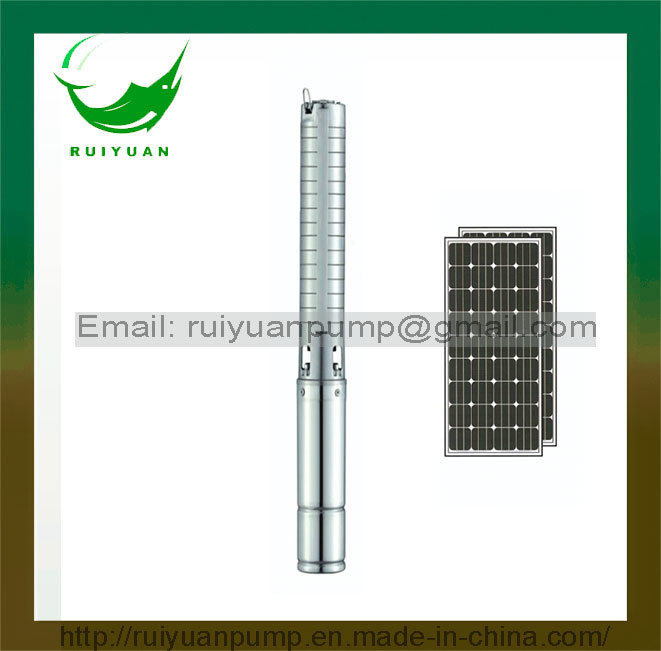 Top Quality DC Brushless Water-Filled DC Solar Power Submersible Water Pump with MPPT Controller