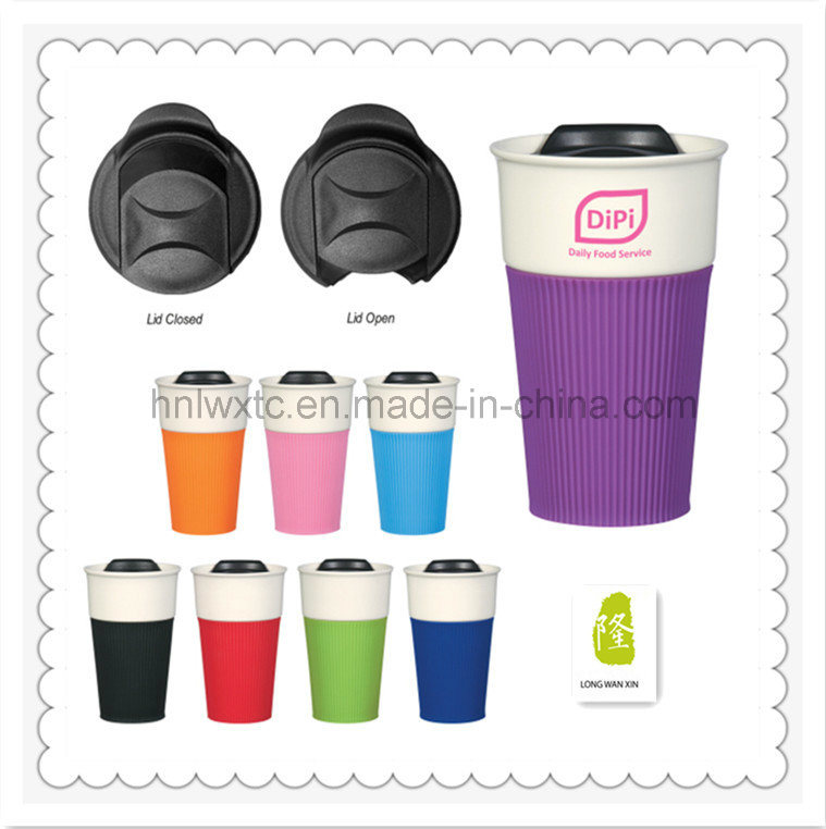 Best Selling Travel Ceramic Mug with Slicone Lid