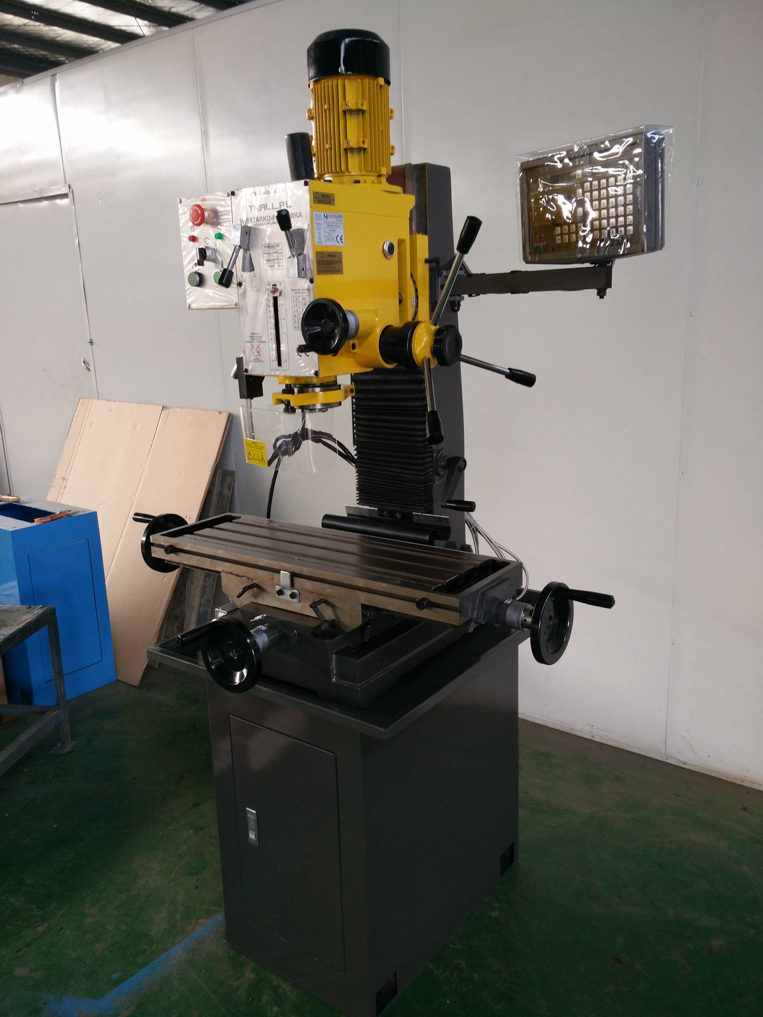 Vertical Metal Manual Drilling and Milling Machine Tool for Home Factory
