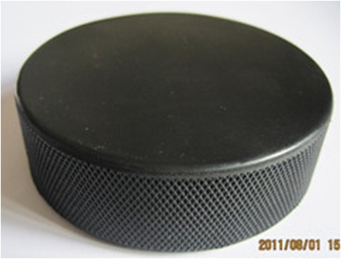 Black Ice Rubber Hockey Puck