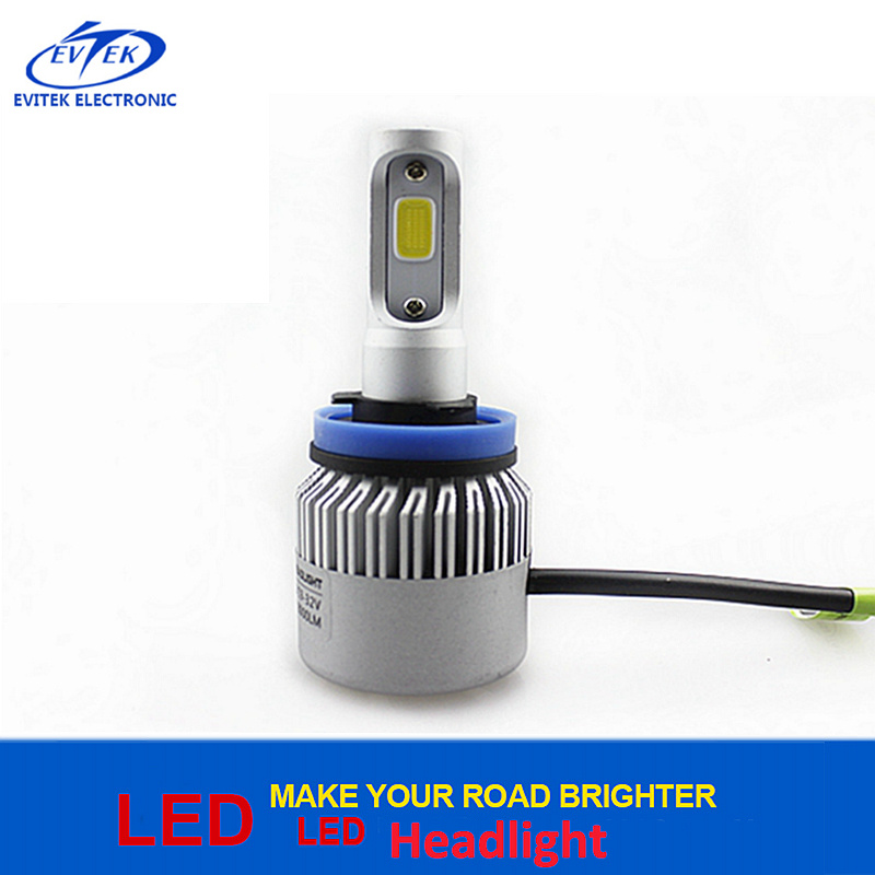 Automobile Lighting COB LED Headlight H8/H9/H11 8000lumen S2 H11 LED Auto Lamp