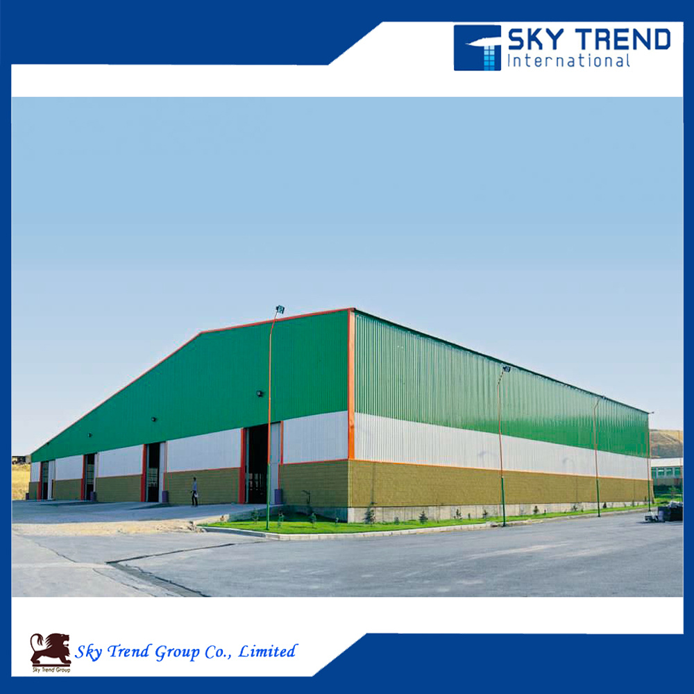 Sandwich Panel Wall and Steel Frame Shed Workshop for Carport Hangar Poultry House