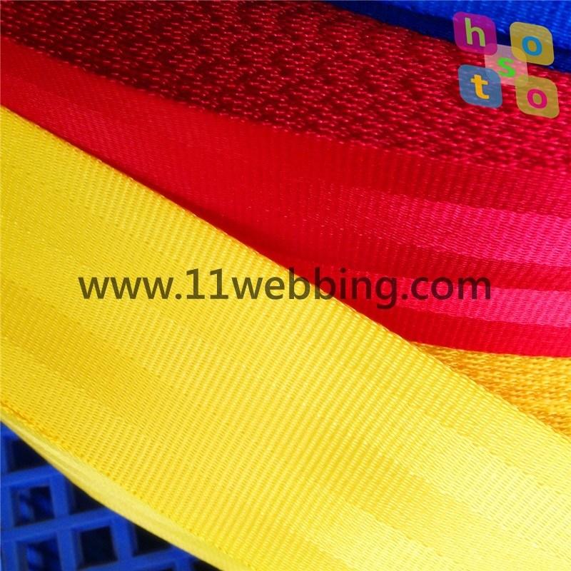 Car Safety Belt Polyester Nylon PP Webbing for Seat Belts