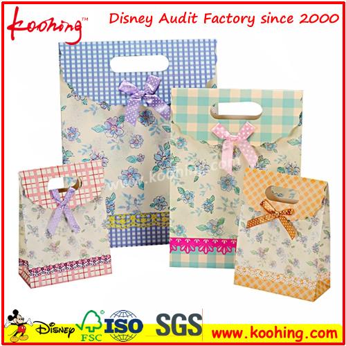Craft Paper Handbag Logo Print Welcome