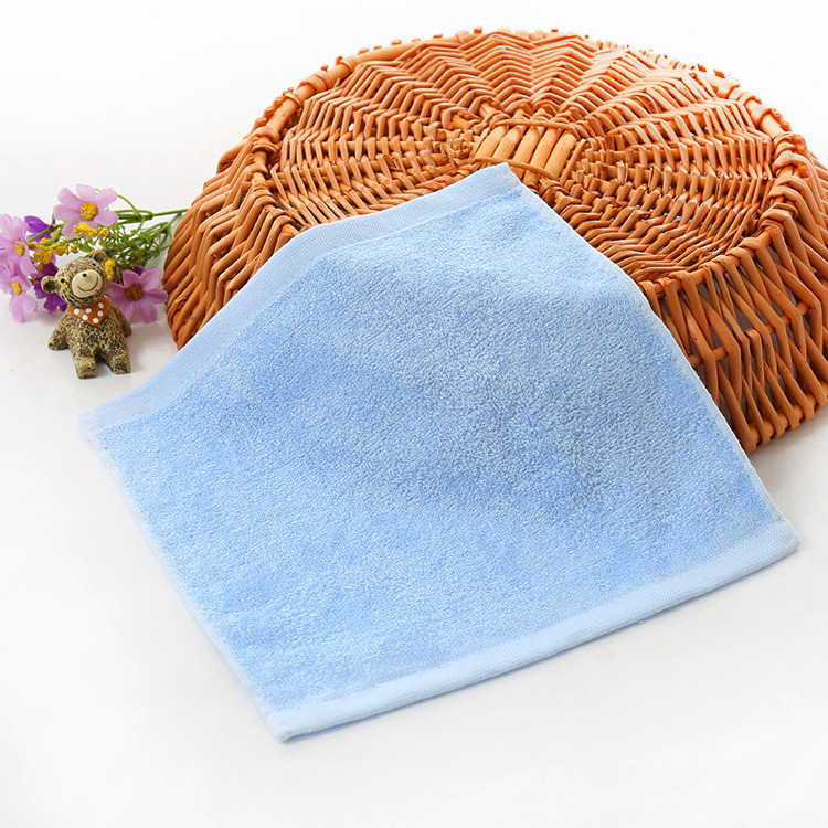 100% Bamboo Fiber White Baby Face Washcloth Promitiom Towel