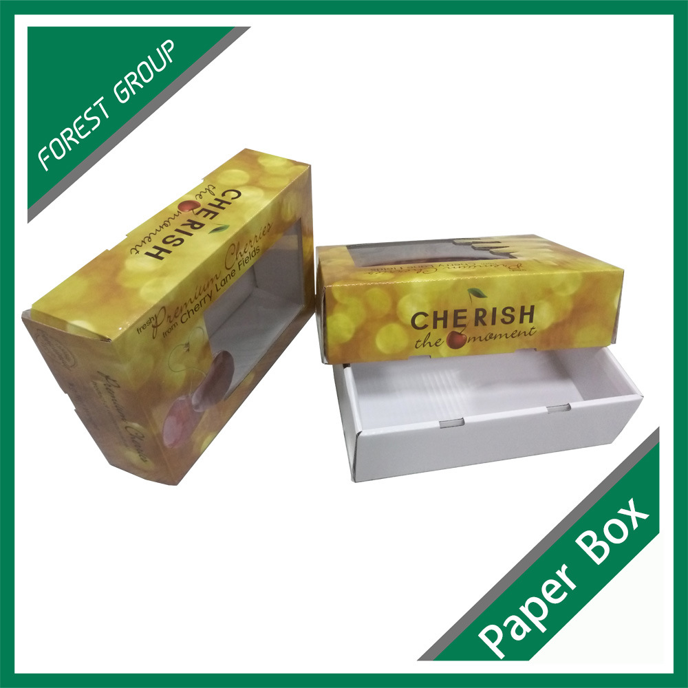 Printed 3-Ply Corrugated Cardboard Box for Fruit Packaging Box Wholesale
