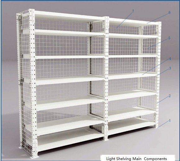 Boltless Shelving for Light Storage