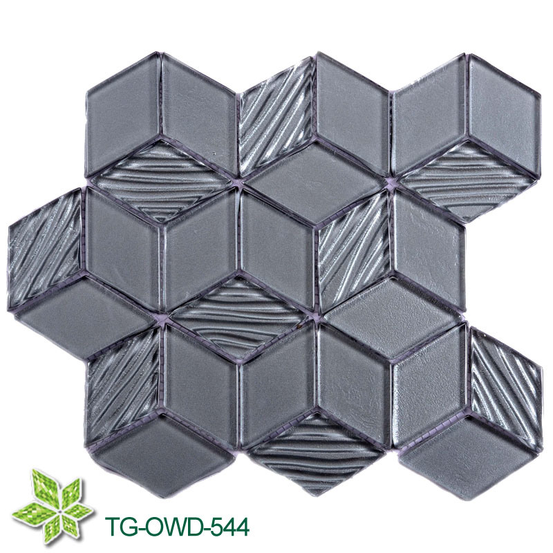 Diamond Crystal Glass Mosaic Tile (TG-OWD-544)