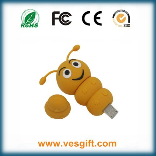 PVC OTG Model Caterpillar Shape USB Flash Driver