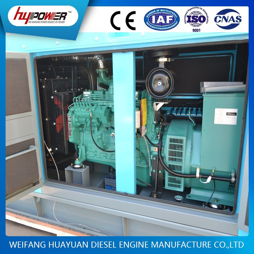 180kw / 220kVA Automatic Soundproof/Low Noise Diesel Generator Powered by Cummins Engine