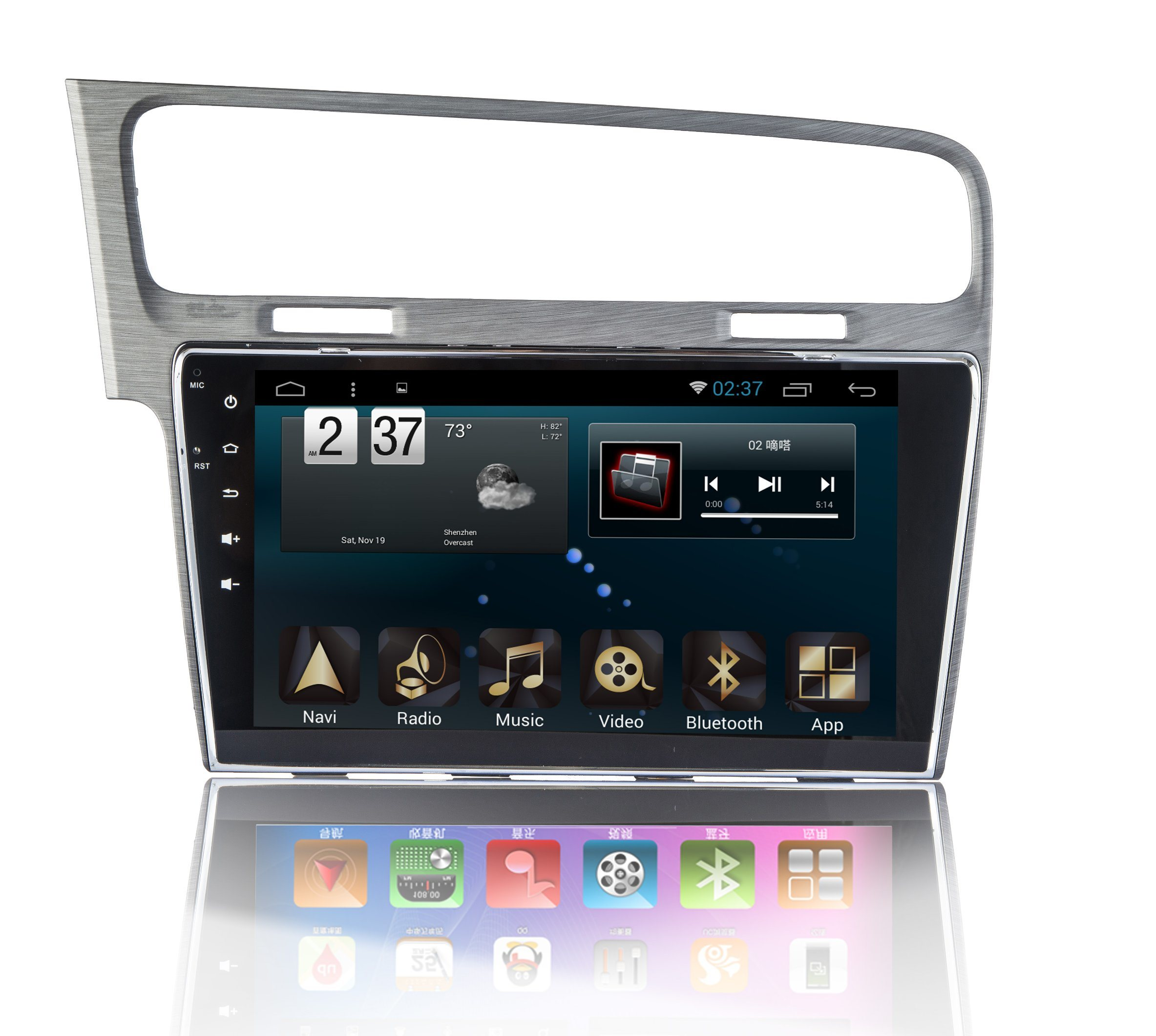 New Ui Android 6.0 System Car DVD Player for Volkswagen Golf with Car GPS Navigation