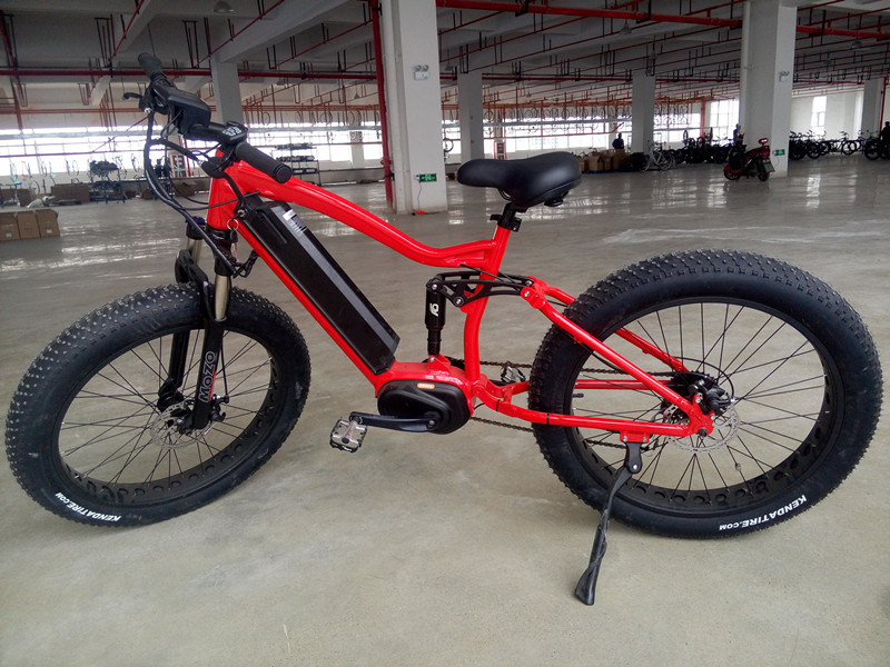 2017 New Design Full Suspension Electric Bike with Fat Tyre