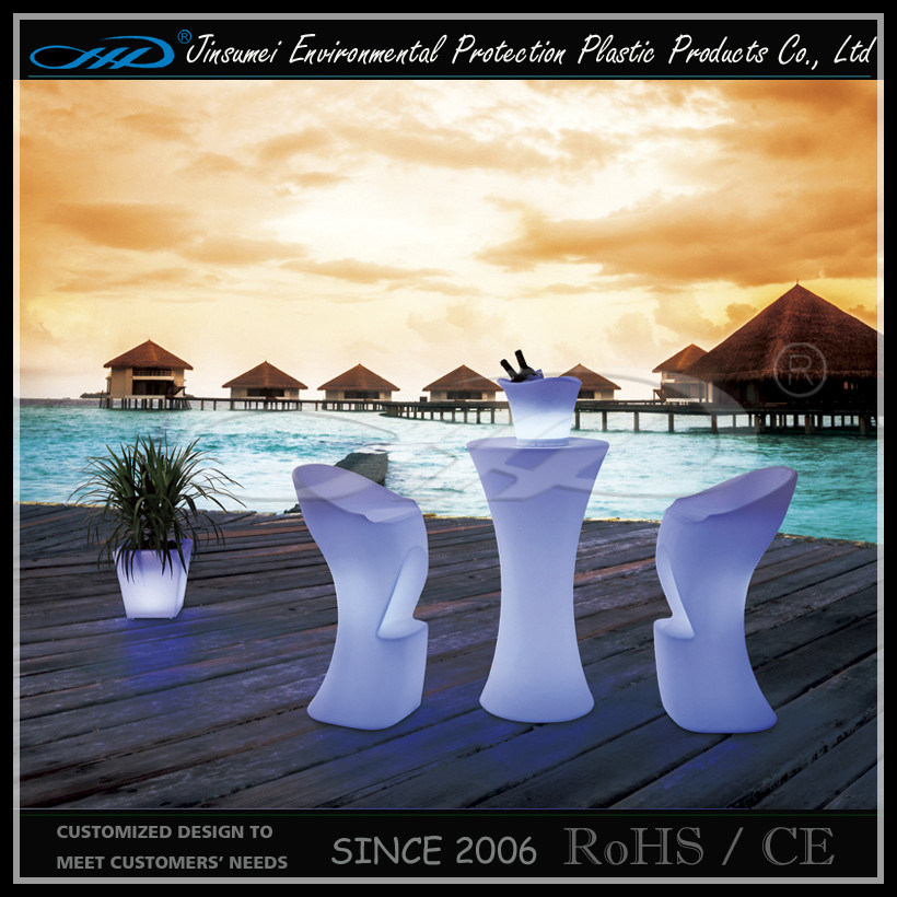 LED Bar Table Garden Furniture