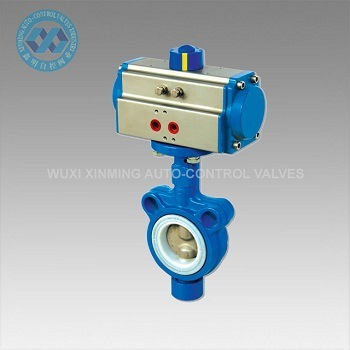 Soft-Sealed Wafer Type Pneumatic Actuator Butterfly Valves