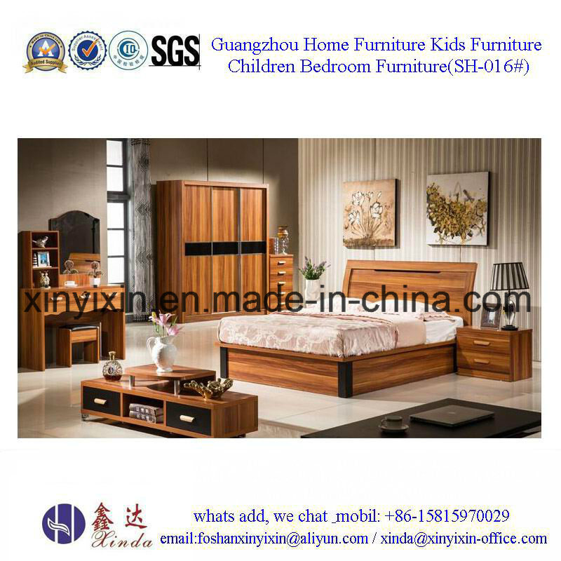 King Size Leather Bed Luxury Hotel Bedroom Furniture (SH-015#)