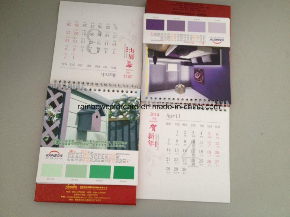 Advertisement Gift with Paint Color Chart Desk Calendar