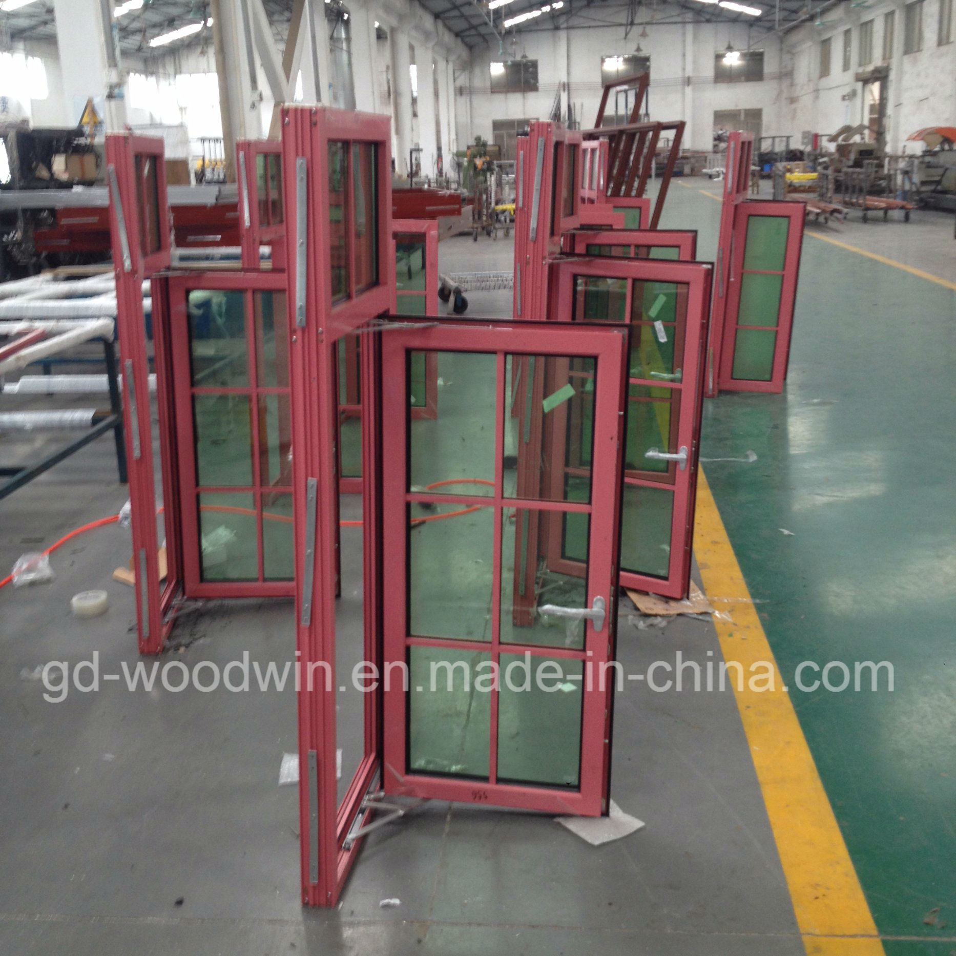 Woodwin Quality Guaranteed Double Glass Thermal Break Aluminum Window