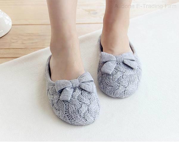 Indoor Slippers/Indoor Footwear/Women Slippers/Knit Slippers
