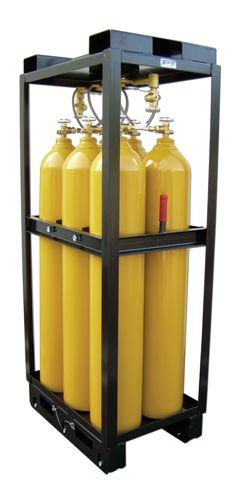 OEM Large Fixing Racks Angle Iron with Wheel Pinding Industrial Gas Pump