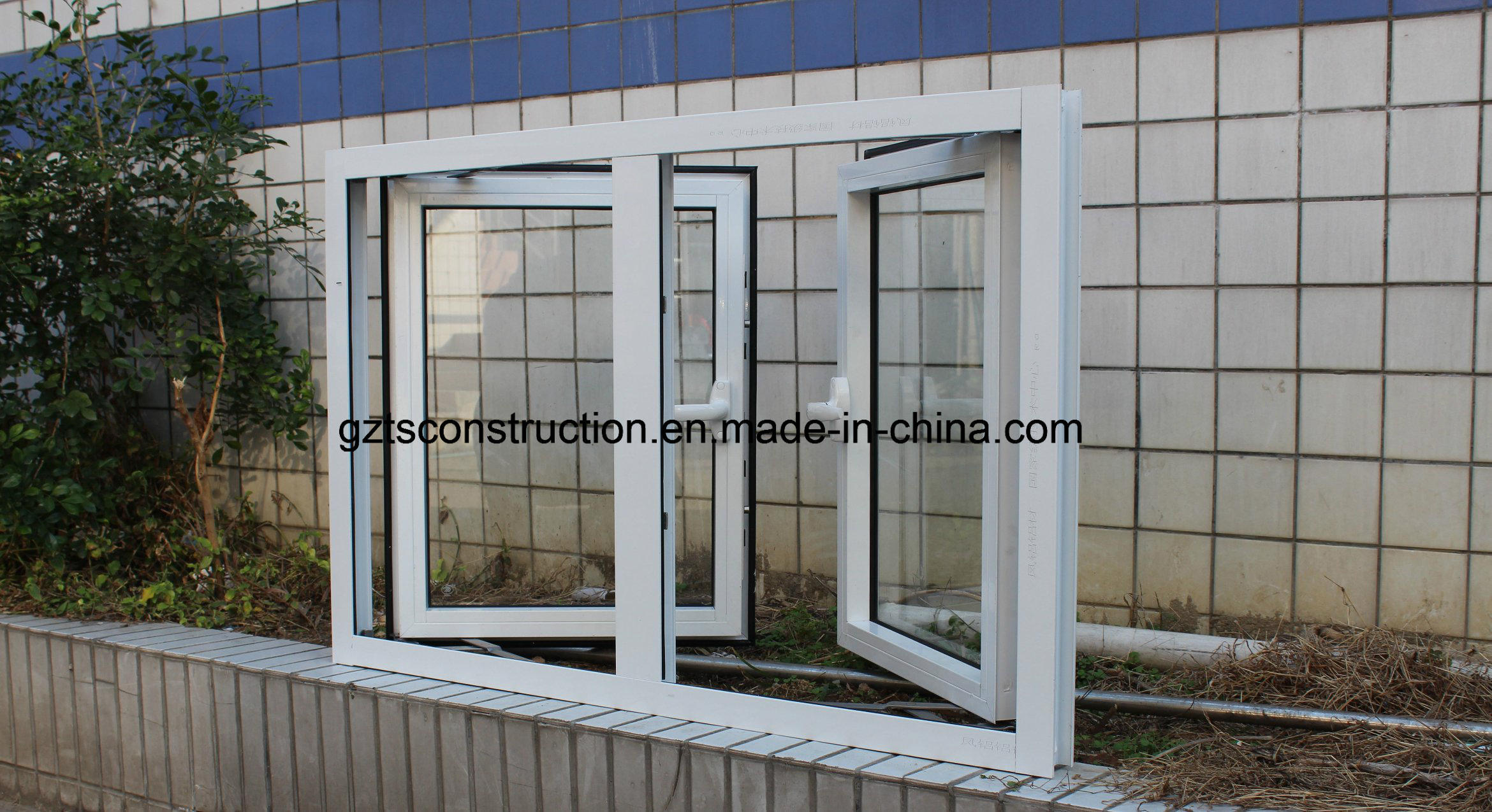 Custom Single Glass Aluminum Casement Window