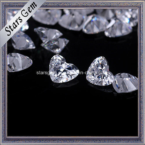 Beautiful Heart Cut 4X5mm Zirconia Beads for Jewelry