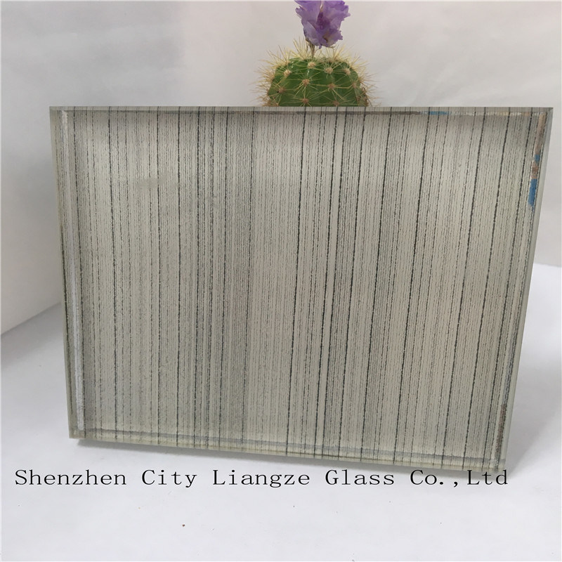 10mm+Silk+5mm Ultra Clear Mirror Laminated Glass/Tempered Glass/Safety Glass for Decoration