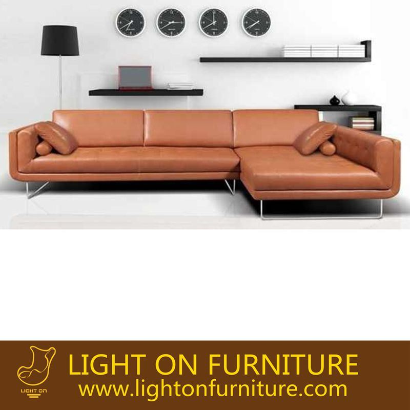 Modern Livingroom Sofa with Leather Sectional Recliner Sofa (L039)
