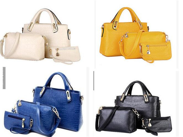 Fashion Women Messenger PU Leather Crossbody Handbags (54096)