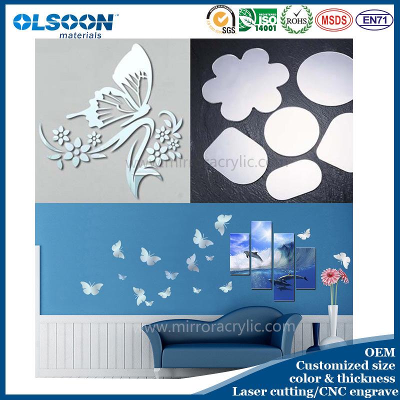 Olsoon Customized Home Wall Mirror Decoration Acrylic Decorative Mirror