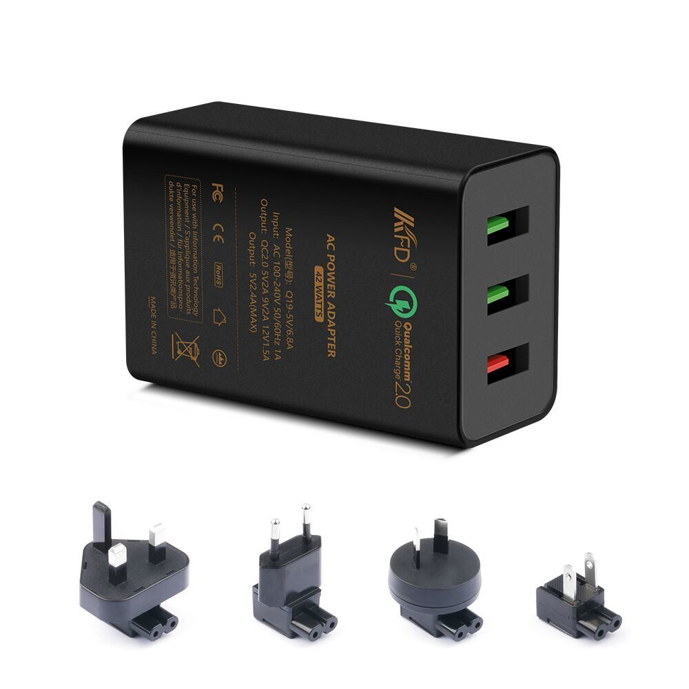 3USB Port Charger 42W 2.4A Fast Charge for Samsung Nexus Xiaomi iPhone