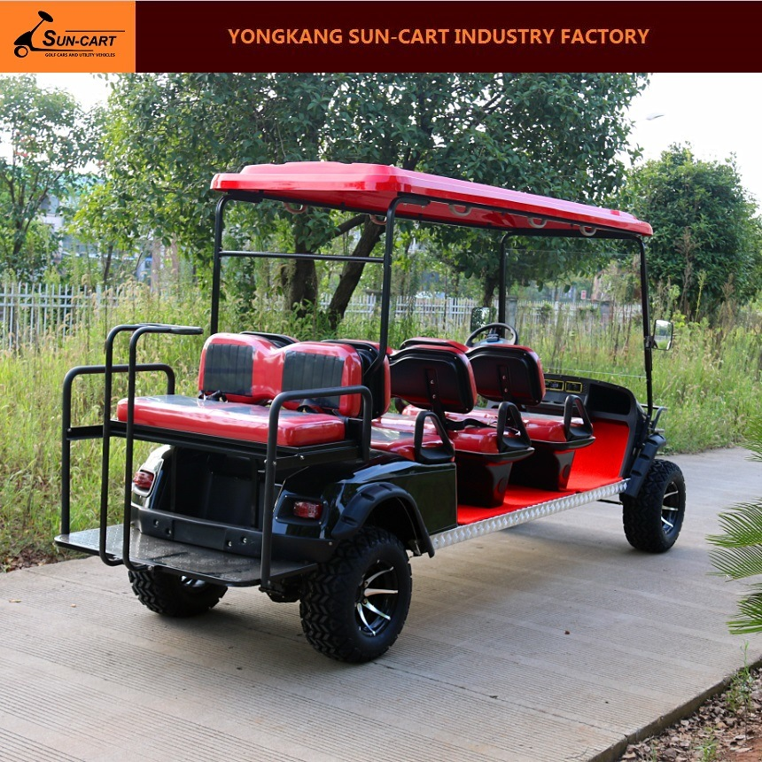 Ce Approved 8 Passenger Electric Hunting Golf Cart (Rear back folding seats)