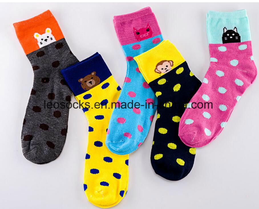 Happy Socks with Colorful Patterns Custom Logo Men Socks