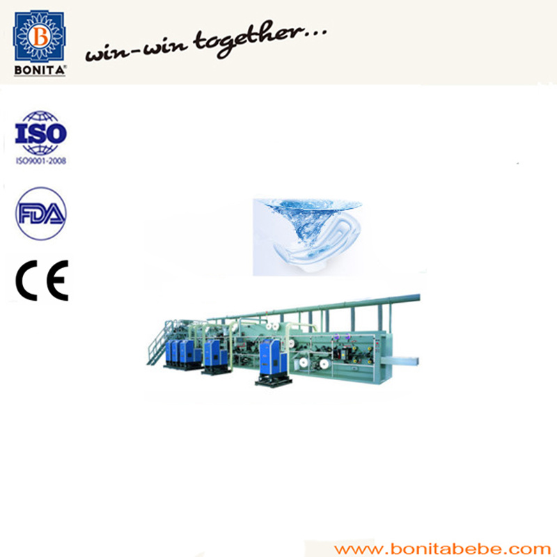 Full Servo Automatic Sanitary Napkin Machine