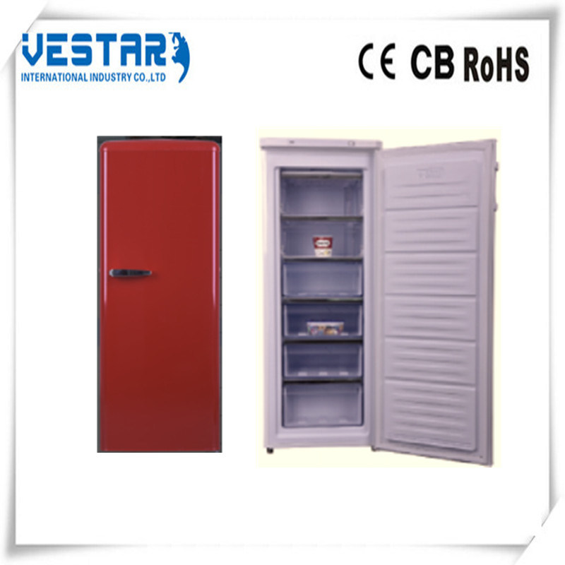 Single Door Upright Freezer with 4 Drawers
