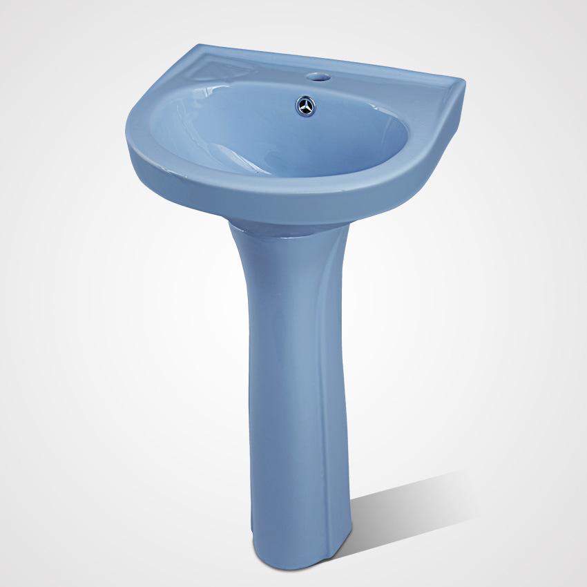 High Quality Ceramic Veranda Face Wash Pedestal Washing Basin
