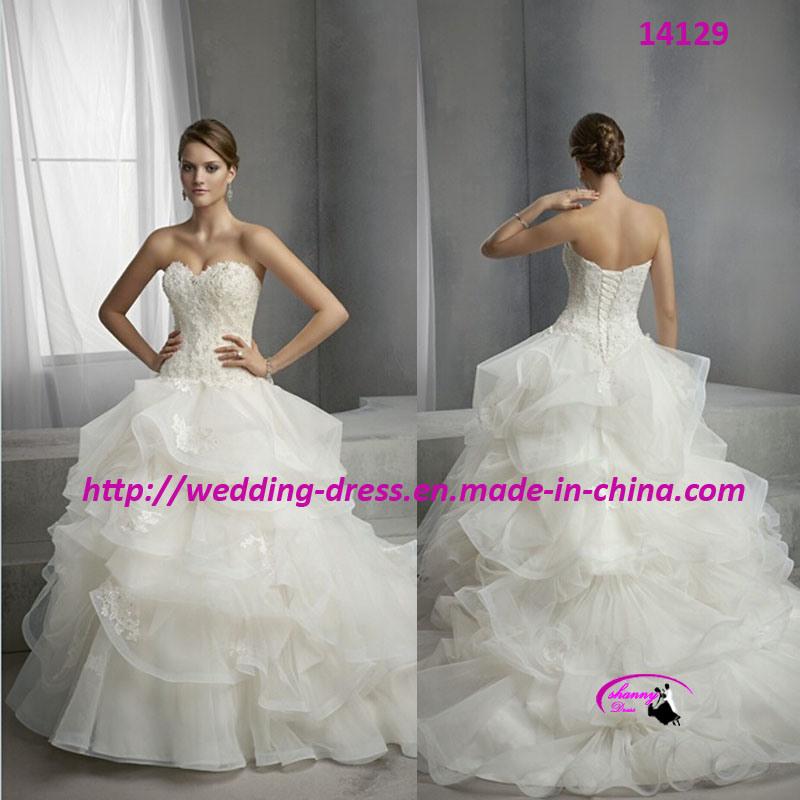 Princess Pure Wedding Bridal Dress with Lace up