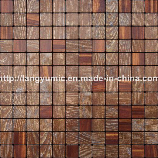 Mosaicos mezclados de madera rojos 2074 mosaicos - Mosaico de madera ...