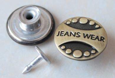 Gold Shanking Jeans Buttons B287