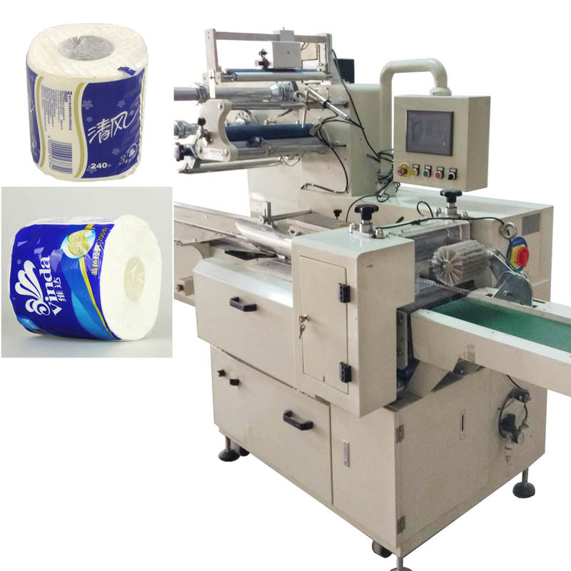 Toilet Tissue Paper Roll Packing Machinery Heat Shrink Sealing Machine