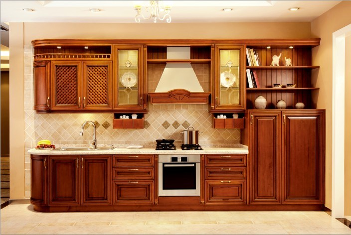 China american maple solid wood kitchen cabinets v sv011 for American maple kitchen cabinets