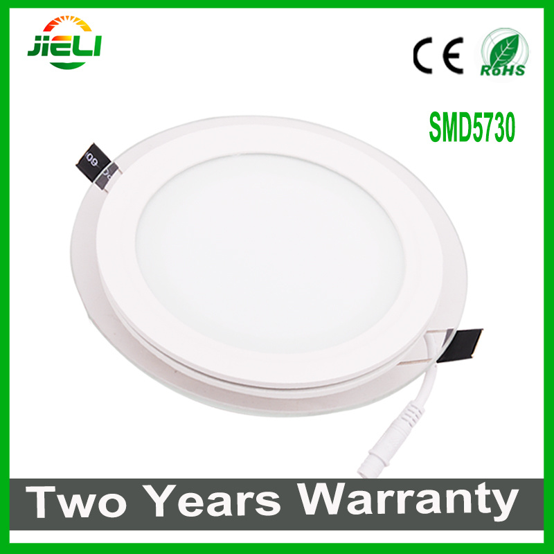 Top Quality Round Aluminum+Glass 5W/9W/12W/18W30W LED Panel Light