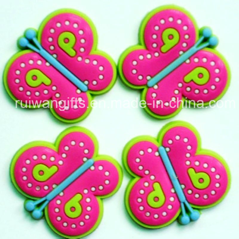 Butterfly Soft PVC Shoes Buckle for Kids Shoe Decoration