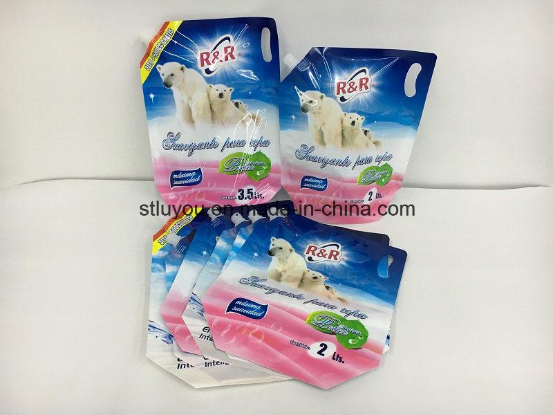 Plastic Packaging Bag, Liquid Detergent Stand up Spout Pouch