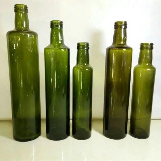 250ml 500ml Dark Green Olive Oil Bottle with Aluminum Cap
