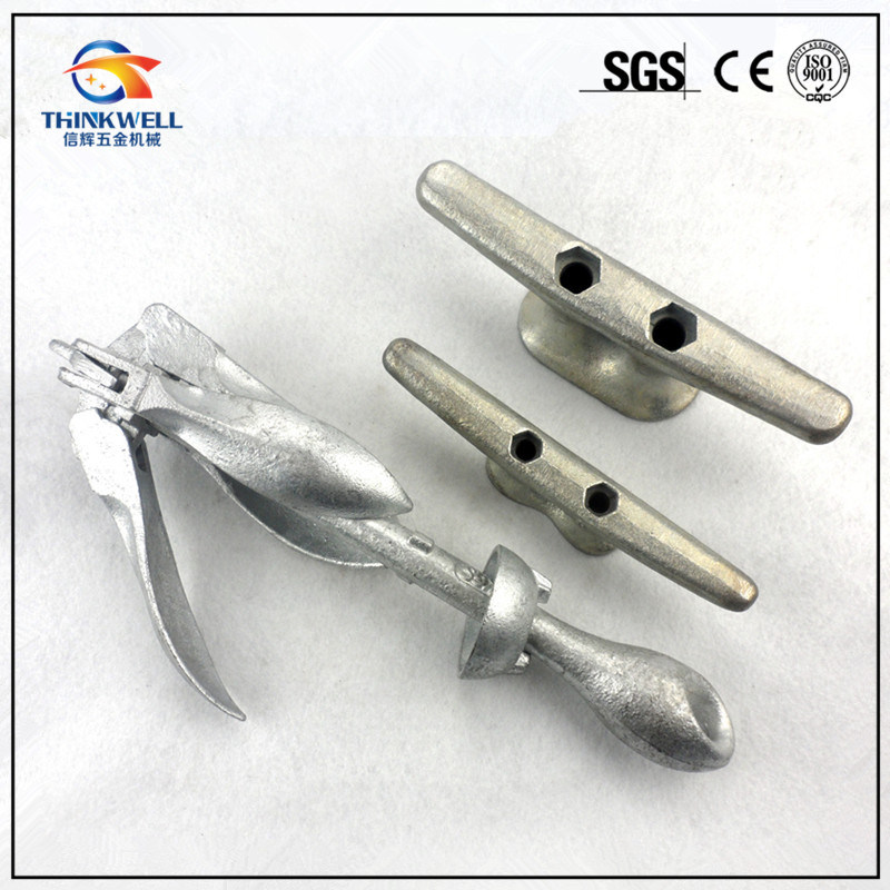 1.5kg Galvanized Stainless Marine Boat Folding Grapnel Anchor