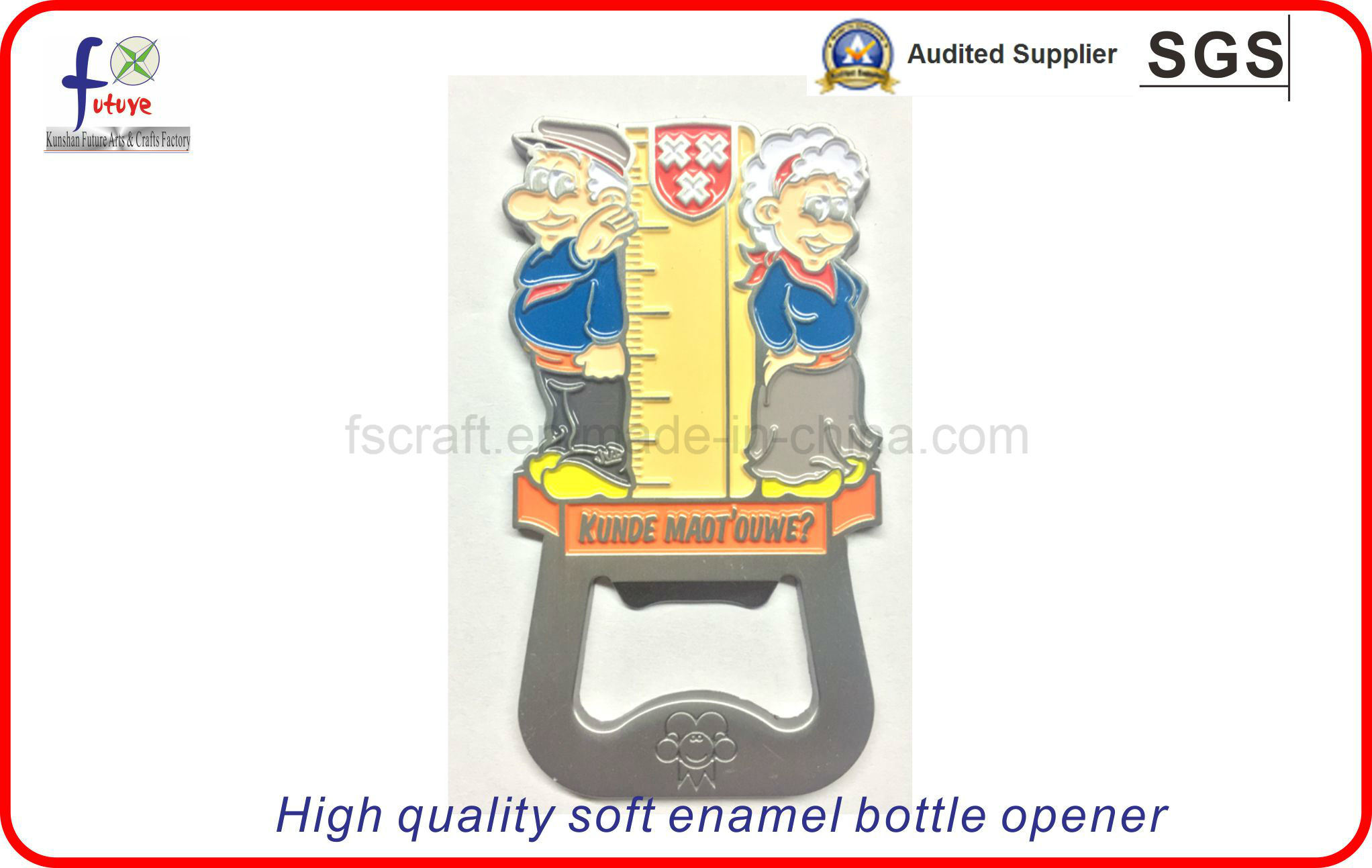 High Quality Soft Emamel Custom Badges Bottle Openers