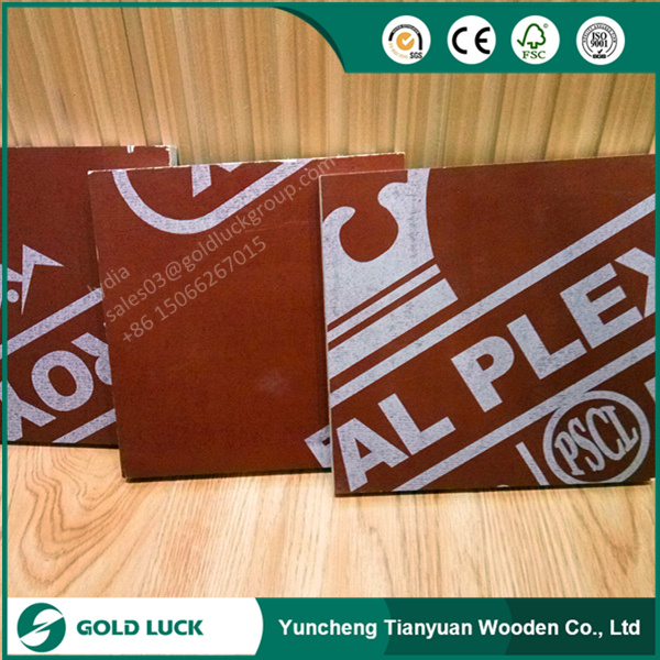 18mm Phenolic Shuttering Brown Film Faced Marine Plywood