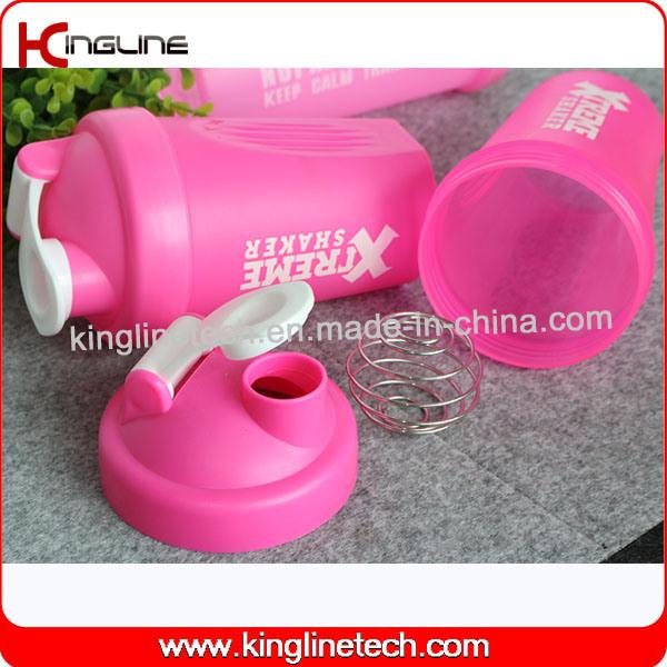 400ml blender shaker water bottle custom protein shaker bottle sports bottle shaker cup gym shaker fitness bottle bap free water bottle with mixer (KL-7011)