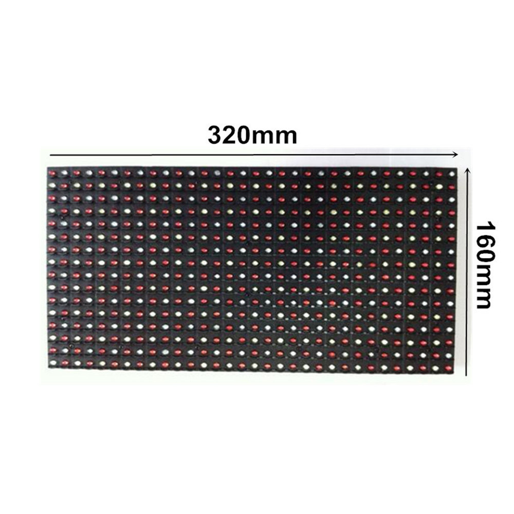 Outdoor P20 Full-Color 320*160mm 16*8 Pixels LED Display Module for P20 Outdoor RGB Door Head Dazzle Colour Display Screen