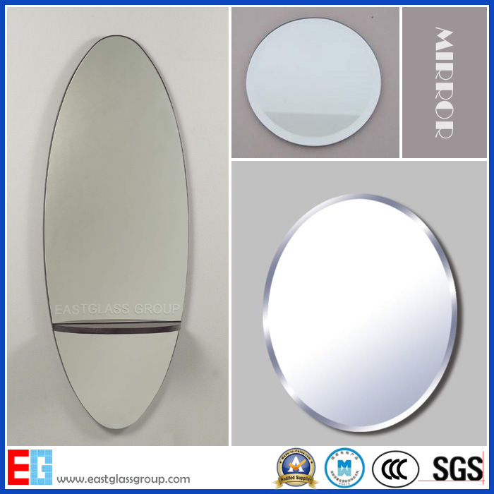 Silver Mirror/Aluminum Mirror/Copper Free Silver Mirror/Colored Mirror/Bathroom Mirror/Safety Mirror with Cat II or PE Film/ Tempered Mirror/Mirror Glass
